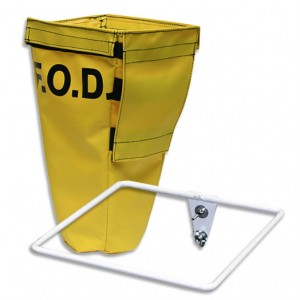 yellow fod bag with steel frame