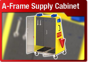a frame supply cabinet button