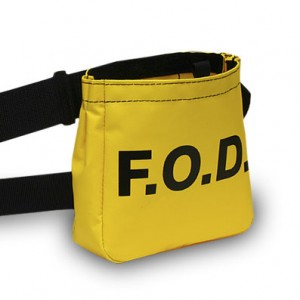 yellow vinyl belt pouch