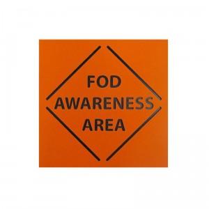 FOD awareness area sign