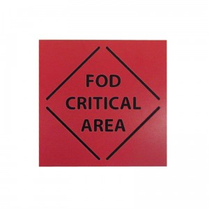 FOD critical area sign
