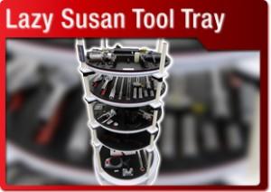 lazy susan tool tray